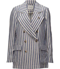 double breasted coat blazer blauw scotch & soda