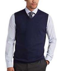 joseph abboud navy v-neck modern fit sweater vest
