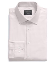 men's big & tall nordstrom classic fit non-iron stretch dress shirt, size 16 - 36/37 - purple