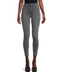joe's jeans women's high-rise curvy skinny jeans - grey - size 27 (4)