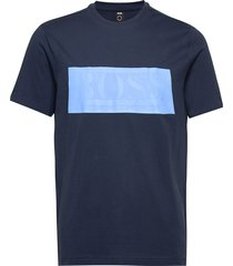 tee batch 1 t-shirts short-sleeved blå boss