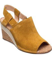 spiced bay sandalette med klack espadrilles brun clarks