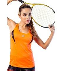 camiseta atletica naranja mia f-7806