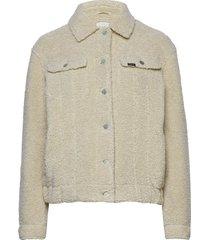 sherpa rider jacket outerwear faux fur beige lee jeans