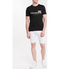 camiseta masculina slim nyc preta calvin klein - pp