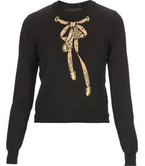 boutique moschino bridle bow sweater
