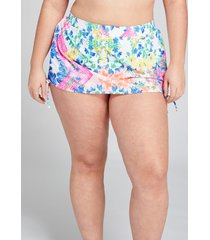 lane bryant women's drawstring swim skirt 18 patchwork