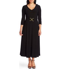 women's chaus belted tea length dress