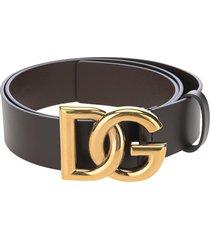 dolce & gabbana dolce & gabbana crossed dg logo belt
