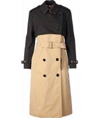 two - tone trench coat deighton