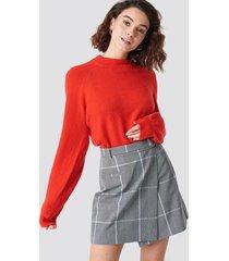 na-kd classic checked short skirt - grey