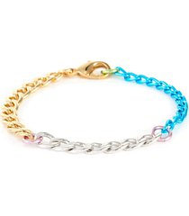 disco 18k gold plated brass chain bracelet