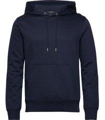 throw hood-clean sweat hoodie trui blauw j. lindeberg