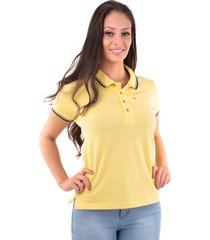camisa polo cp0720 regular traymon amarelo claro - kanui
