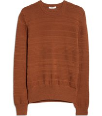 women's the row costante crewneck cotton sweater, size x-small - beige