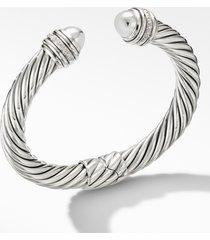 david yurman cable bracelet with diamonds, 9mm, size medium at nordstrom