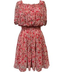 taylor square-neck peasant dress