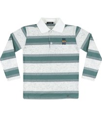 camiseta polo listrada ser garoto verde - verde - menino - algodã£o - dafiti