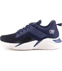 tenis de hombre o.p. running balazo h1d - azul marino