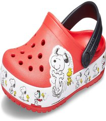sandália infantil crocs fl snoopy woodstock cg k vermelho