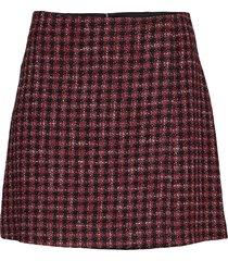 veljara kort kjol röd boss