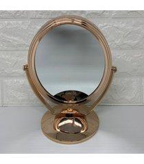 espelho de mesa para maquiagem com moldura rose gold - ros㪠- feminino - dafiti