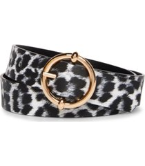 steve madden reversible round-buckle belt