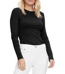 women's michael stars crewneck long sleeve t-shirt
