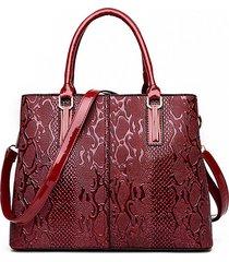 elegante spalla in pelle verniciata lucida borsa tracolla borsa per donna