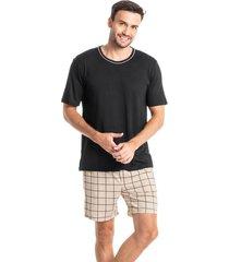pijama masculino curto com bolso victor