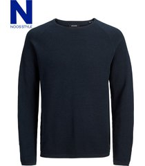 jack & jones 12157321 katoenen trui navy r -