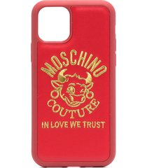 moschino logo-embroidered iphone 11 pro max case