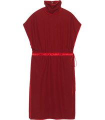 gucci shift mid-length dress - red