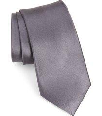 men's nordstrom solid silk x-long tie, size x-long - grey