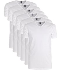 alan red 6-pack t-shirts oklahoma v-hals - wit