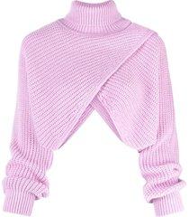 msgm asymetric sweater