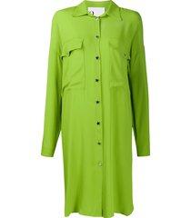 8pm oversized shirt dress - green
