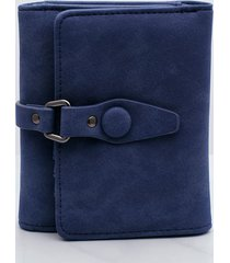 billetera femenina pequeña. azul uni