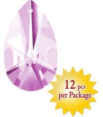 magnificent 28mm pink almond crystal prism charm pendant party decoration 12 pcs