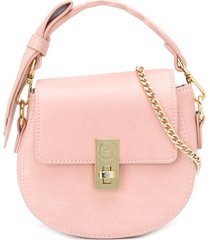 abel & lula bow-strap shoulder bag - pink