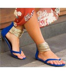 sandalias europeas y americanas con código grande para mujer sandalias