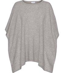 o-neck poncho poncho regnkläder grå davida cashmere