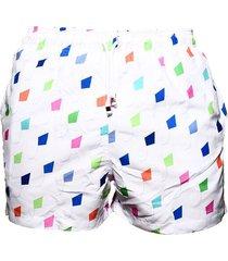 pantaloneta de baño blanca regata beachwear villa de leyva