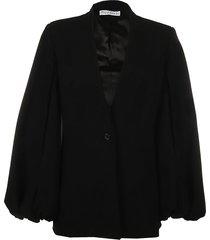 v-neck bell sleeve jacket