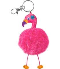 chaveiro  stephen joseph flamingo rosa