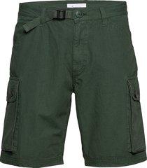 trek durable rib-stop shorts - gots shorts cargo shorts grön knowledge cotton apparel