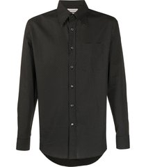 alexander mcqueen micro dotted shirt - black