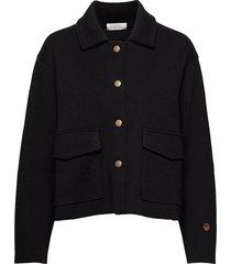 nikki jacket stickad tröja cardigan svart busnel