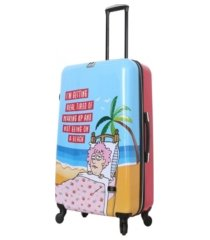 "halina aunty acid trip 28"" hardside spinner luggage"