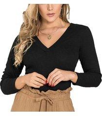 blusa elvia negro para mujer croydon
